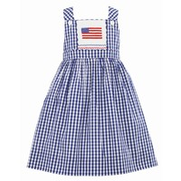 Anavini 4th of July Flag Jumper Dress