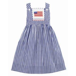 Anavini 4th of July Flag Jumper Dress