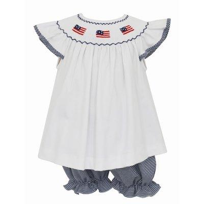 Petit Bebe Flags Knit Angel Wing Bloomer Set