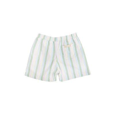 Beaufort Bonnet Company Shelton Shorts - Broadcloth Rainbow Row Stripe/Buckhead Blue