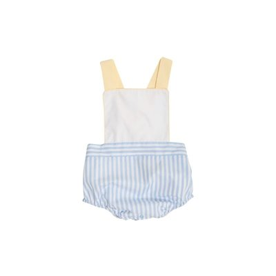 Beaufort Bonnet Company Sayre Sunsuit - Broadcloth Worth Avenue White/Beale Street Blue Stripe/BBY
