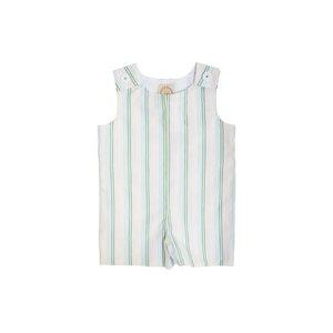 Beaufort Bonnet Company Jack Keene Jon Jon - Broadcloth Rainbow Row Stripe/Grenada Green