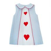 Zuccini Embroidered Heart Jane Dress