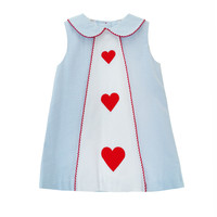 Zuccini Embroidered Heart Jane Dress