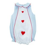 Zuccini Embroidered Heart Jane Bubble