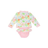 Beaufort Bonnet Company Wave Spotter Swim Set - Bimini Botanical/Palm Beach Pink