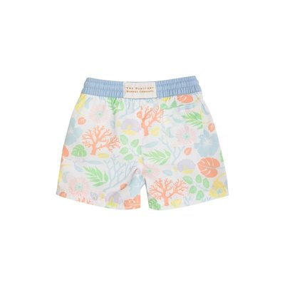 Beaufort Bonnet Company Tortola Swim Trunks - Bimini Botanical/Buckhead Blue