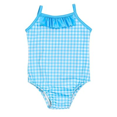Bailey Boys Blue Gingham Spandex Swimsuit