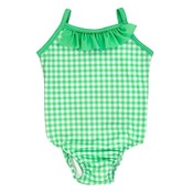 Bailey Boys Mint Gingham Spandex Swimsuit