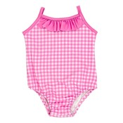 Bailey Boys Pink Gingham Spandex Swimsuit