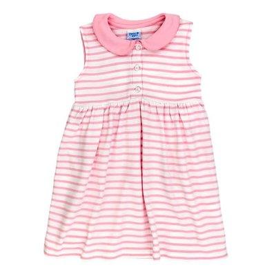 Bailey Boys Pink/White Stripe Knit Sundress