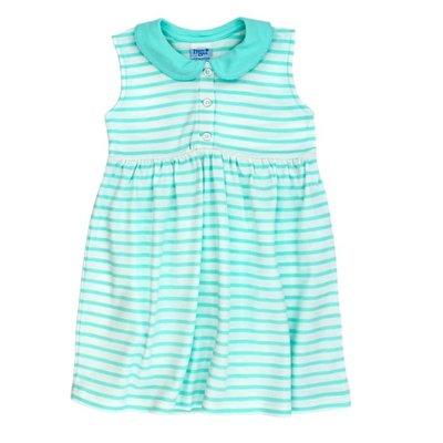Bailey Boys Seaglass/White Stripe Knit Sundress