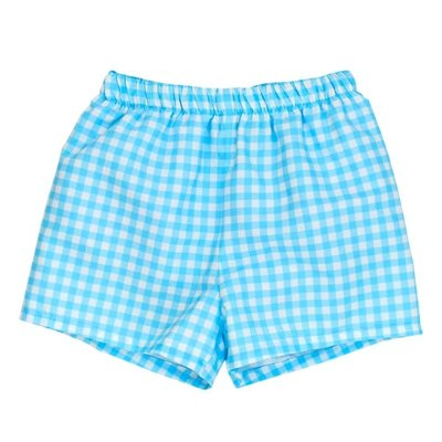 Bailey Boys Blue Gingham Swimtrunk