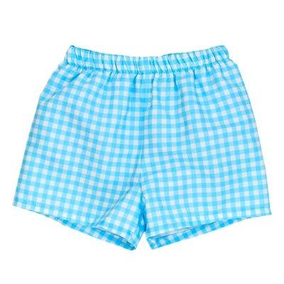 Bailey Boys Blue Gingham Swimtrunk