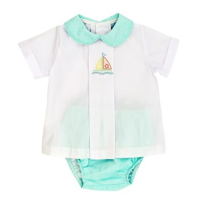 Bailey Boys Sailboat Shadow Diaper Set