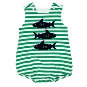 Bailey Boys Shark Trio Knit Infant Bubble