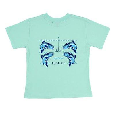 J Bailey 4 Fish w/Hook on Seaglass Logo Tee