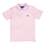 J Bailey Pink/White S/S Stripe Polo Shirt