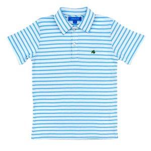 J Bailey Blue/White S/S Stripe Polo
