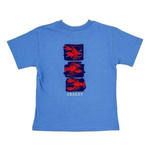 J Bailey Lobster Trio on Denim Blue Logo Tee