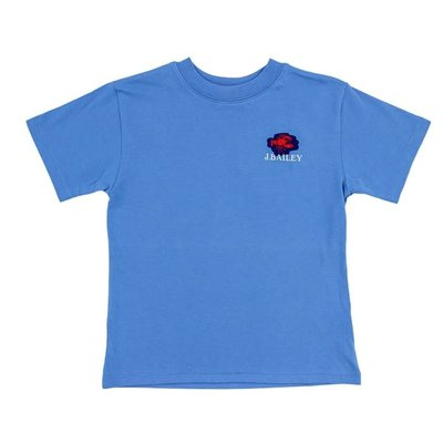 J Bailey Lobster Trio on Denim Blue Logo Tee