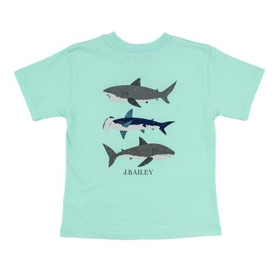 J Bailey Sharks on Seaglass Logo Tee