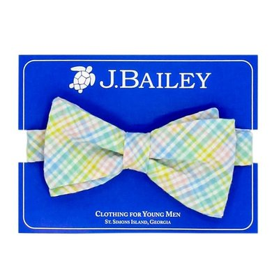 J Bailey Preppy Plaid Bow Tie