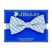 J Bailey Blue Gingham Bow Tie