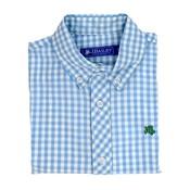 J Bailey Blue Gingham Button Down Shirt