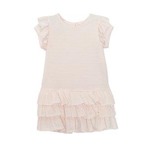 Isobella & Chloe Pink Ruffle Knit Dress