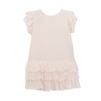Isobella & Chloe Pink Ruffle Knit Dress