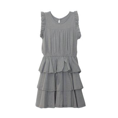 Isobella & Chloe Grey Tiered Ruffle Knit Dress