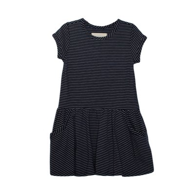 Mabel & Honey Navy Knit Front Pocket Drop Waist Dress
