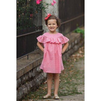Mabel & Honey Pink Woven Ruffle Dress
