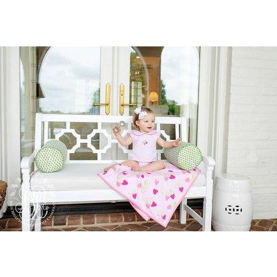 Beaufort Bonnet Company Palm Beach Pink Biltmore Bubble w/Strawberry Embroidery