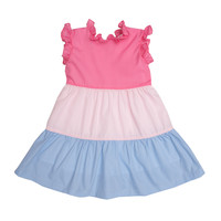 The Oaks Apparel Valeria Pink Tiered Color Dress