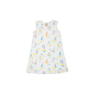 Beaufort Bonnet Company Sandyport Sailboat White Sleeveless Polly Play Dress