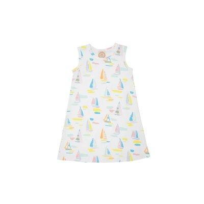 Beaufort Bonnet Company Sandyport Sailboat White Sleeveless Polly Play Dress