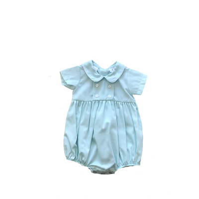 Lulu Bebe LLC Mint Pique Boy Bubble