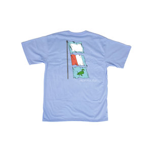 Properly Tied Lt Blue Nautical Flags SS Tee