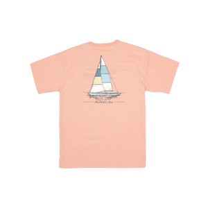 Properly Tied Melon Heather Set Sail SS Tee