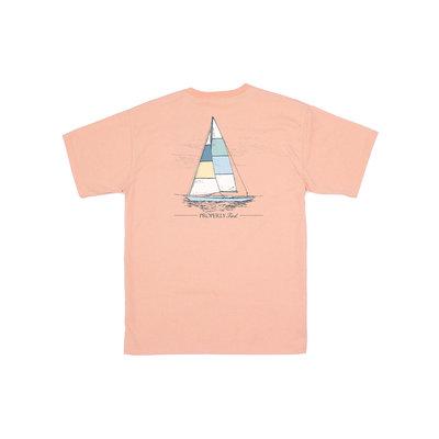 Properly Tied Melon Heather Set Sail SS Tee