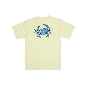 Properly Tied Lt Yellow Topo Crab SS Tee