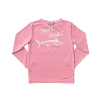 Prodoh Flamingo Pink Girl's Blue Marlin Sunshirt