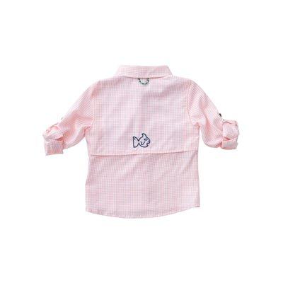 Prodoh Rose Shadow Windowpane Vented Back Fishing Shirt