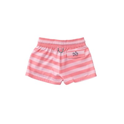 Prodoh Flamingo Pink Stripe Girl's Beach Cruiser Short