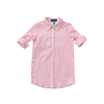 Prodoh Salmon Rose Girl's Fishing Shirt Dress