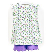 Ishtex Textile Products, Inc Meadow Flower Short Set