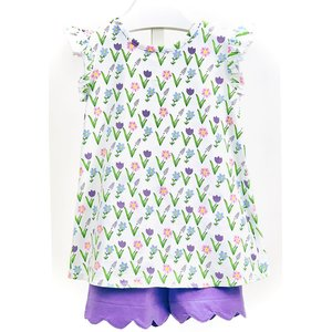 Ishtex Textile Products, Inc Meadow Flower Short Set