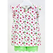 Ishtex Textile Products, Inc Raspberry Short Set